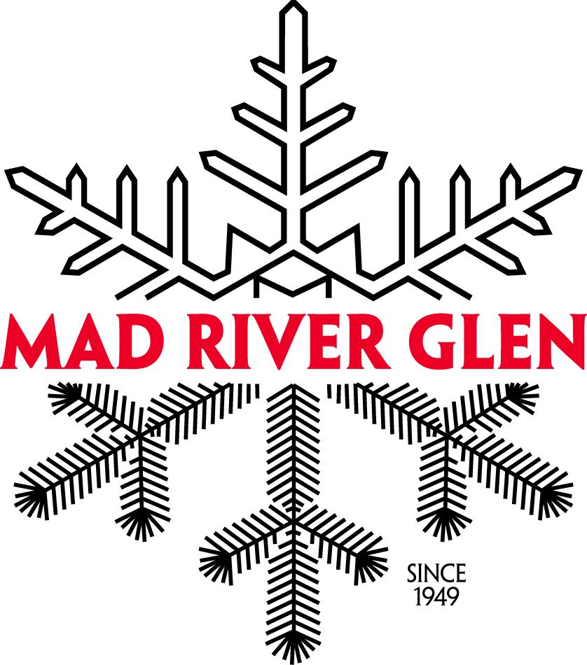 """MAD RIVER GLEN VERMONT SKI SNOWBOARD RESORT STICKER large 15/""""x 3 1//4/"""""""