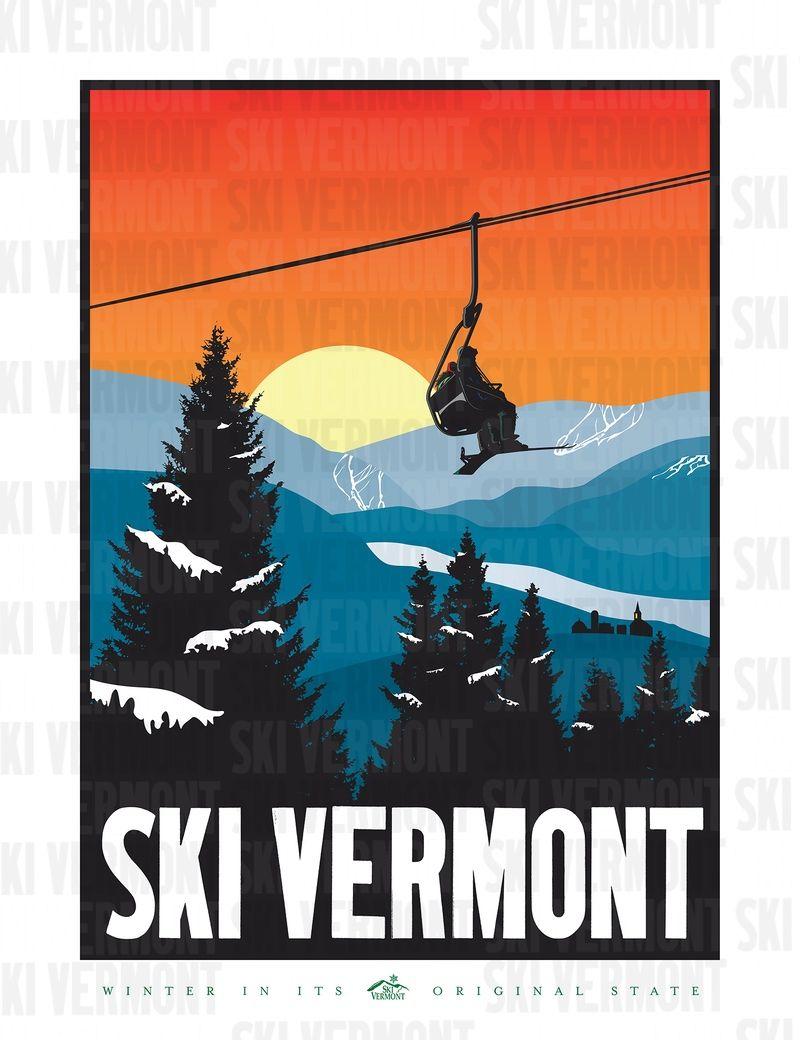 Revised 2008 Ski Vermont Poster