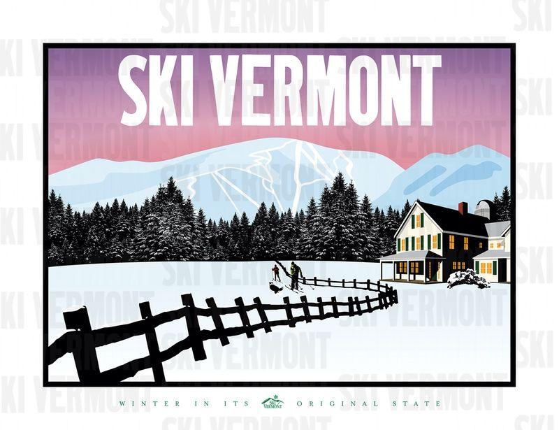 Ski Vermont Poster 2017