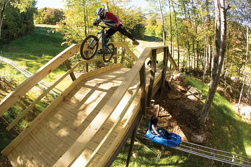 Killington bike trails and mountain coaster
